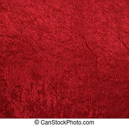 sammet, röd fond