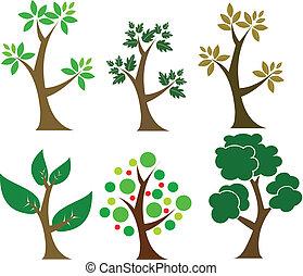 sammlung, bäume