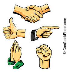 sammlung, hand