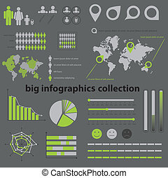 sammlung, infographics