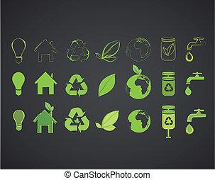 sammlung, mehrere, ökologisch