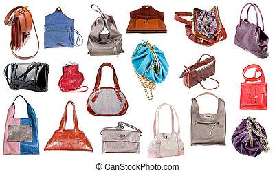 handtaschen sammlung collage leder handtaschen bunte sammlung. Black Bedroom Furniture Sets. Home Design Ideas