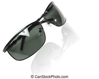 sammlung, von, schwarz, maenner, sunglasses.