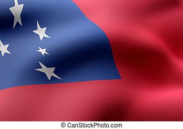 Samoa 3d flag