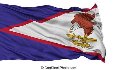 samoa, drapeau national, isolé, onduler, américain