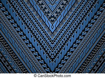 samoa, estilo, maori, ornamento