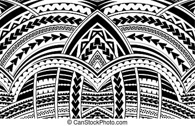 samoa, estilo, ornament.