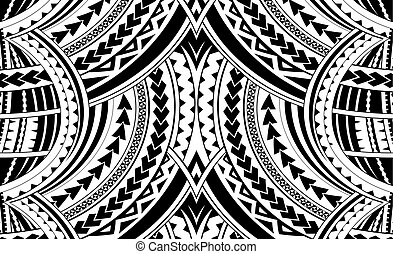 samoa, estilo, ornamento