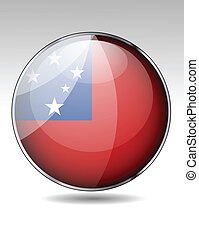 Samoa flag button