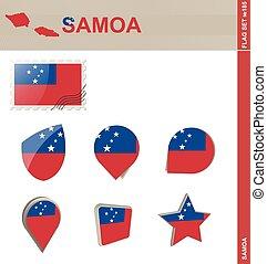 Samoa Flag Set, Flag Set #185