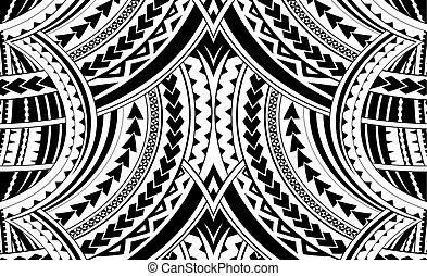 samoa, stijl, ornament