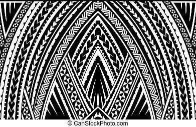 Samoa tribal ornament - Samoa style ornament. Good for...