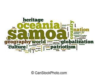 Samoa word cloud