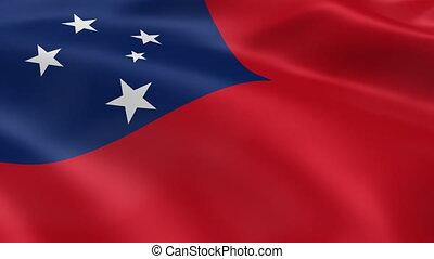 Samoan flag in the wind