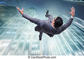 samobójstwo, angażując, należny, kryzys, biznesmen