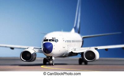 samolot, bieżnia