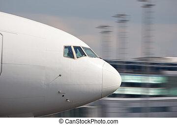 samolot, gagat