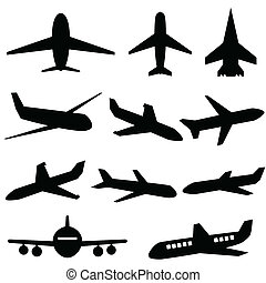 samolot, ikony