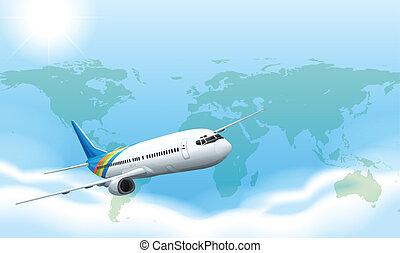 samolot, niebo