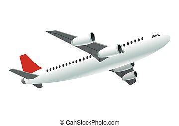 samolot, przelotny, ikona