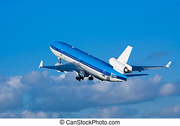 samolot, start