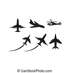 samolot, wektor, ikona