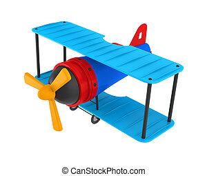 samolot, zabawka, odizolowany