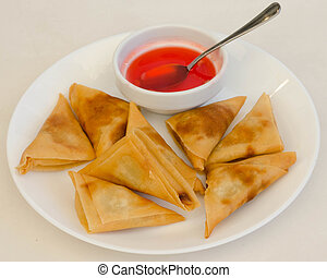 samosa, curry