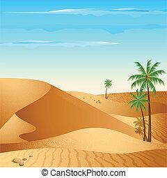 samotny, pustynia