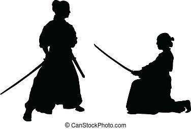 samouraï, japonaise