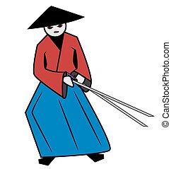 samouraï, rouges