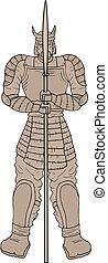 samouraï, statue