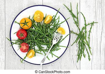 Samphire and Tomatoes Health Food