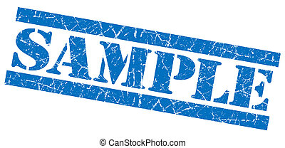 Sample blue grunge stamp