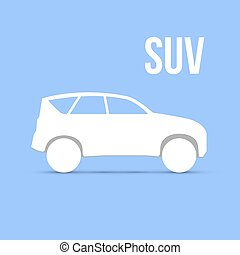Sample Car Icon Isolated Vector illustration