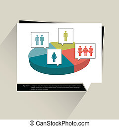 Sample chart, graph. Infographics data visualisation. 3D...