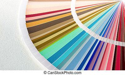 Sample Colors Catalog. Color Palette Guide