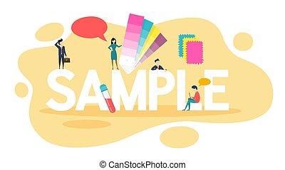 Sample concept. Idea of template. Color palette