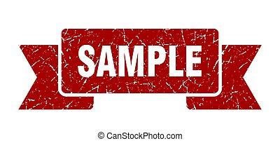sample grunge ribbon. sample sign. sample banner
