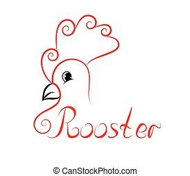sample logo with a  rooster head