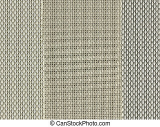 Sample of brown and gray wooven PVC fabric texture