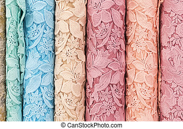 Sample of lace fabric