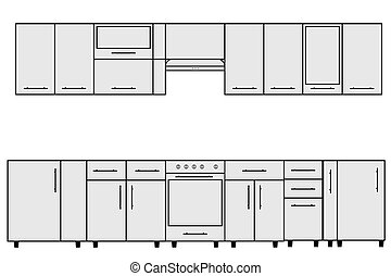 Sample of Modular kitchen objects.