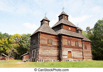 Sample of old wooden church