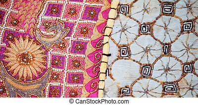 Sample of vintage tapestry from Rajasthan, India
