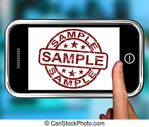 Sample On Smartphone Shows Examples Or Product Taste