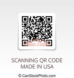 sample qr code ready to scan. made in USA