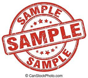 sample red grunge round vintage rubber stamp