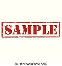 Sample-red stamp