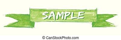 sample ribbon - sample hand painted ribbon sign